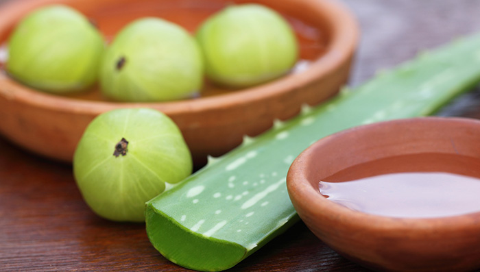 Amla & Aloe vera for Itchy Scalp in Monsoon