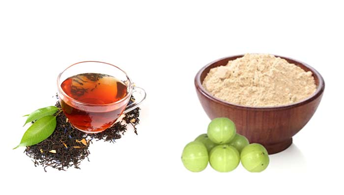 Amla & Tea Leaves for Clear Glowing Skin