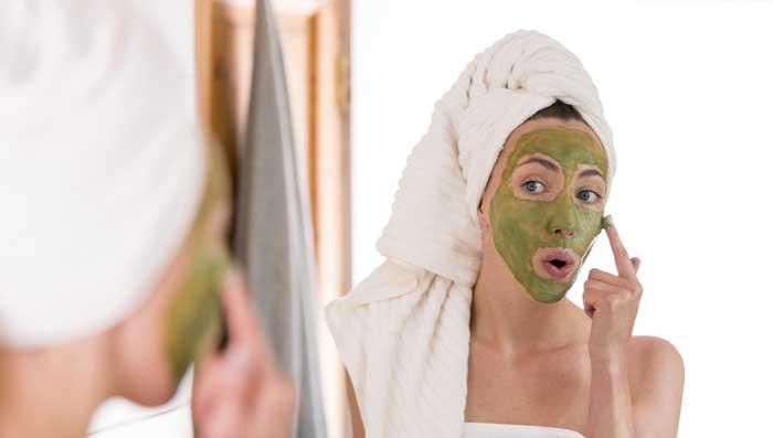 Rice flour honey green tea mask