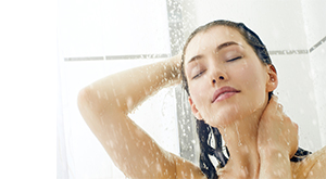 Cold Water Rinse for Soft and Shiny Hair