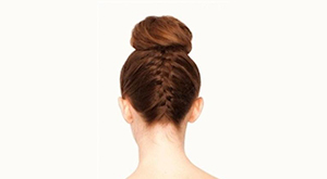 Topknot with French Braid