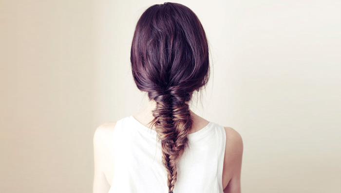 Messy Fishtail Braid Hairstyle