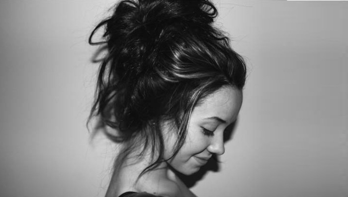 Messy High Bun With Fringes