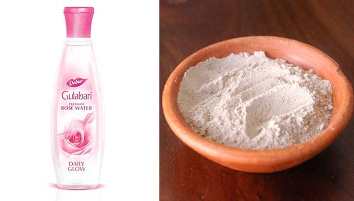Rose Water & Clay for Blackheads