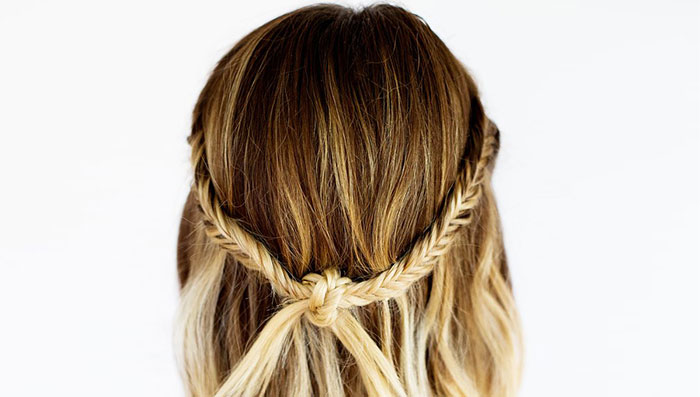 Simple Knot Braid Hairstyle
