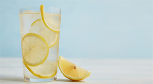Lemon juice with water