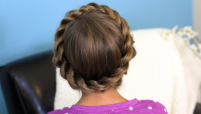 Twisted Crown Braid Hairstyle