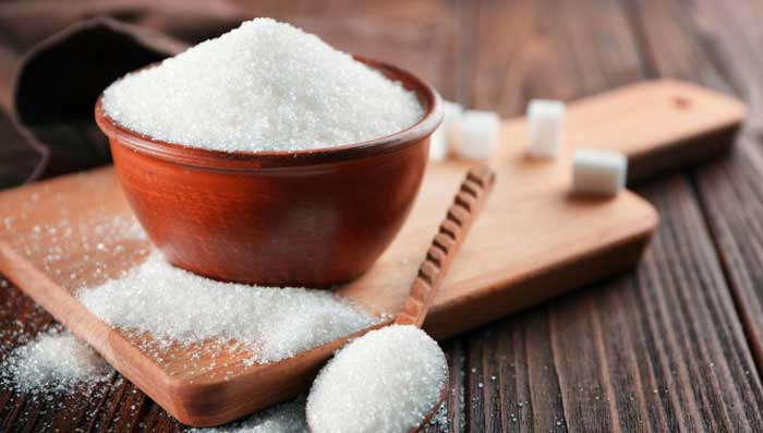Sugar and castor oil for skin whitening scrub