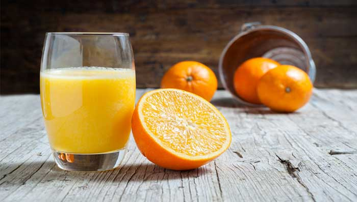 Yogurt And Orange Juice