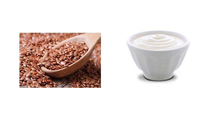 Flax Seeds & Yogurt Mix for Thicker Hair