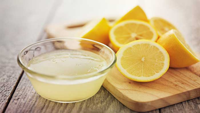 Lemon and onion juice mask