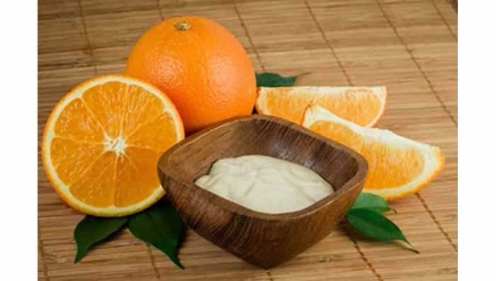 Apply Orange & Curd for Glowing Skin