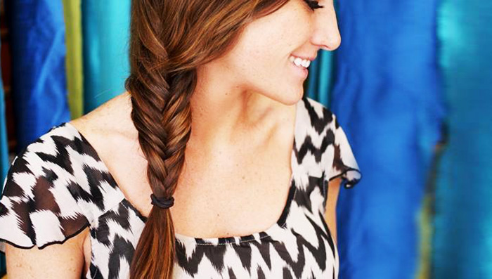 Summer Hairstyle Tutorial The Fishtail Braid