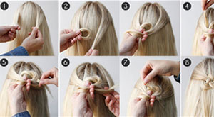 How to Celtic Knot Half Updo