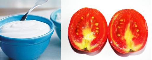 Yogurt And Tomato Mask