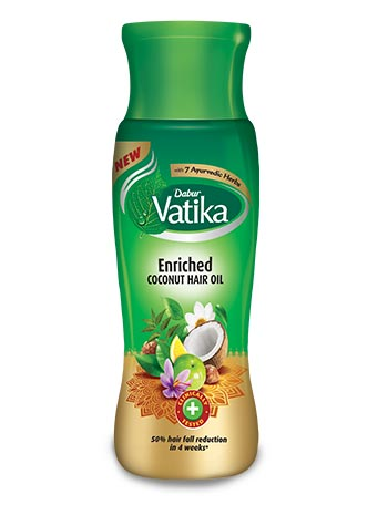 Dabur Vatika Enriched Coconut Hair Oil for to Prevent Hair Fall